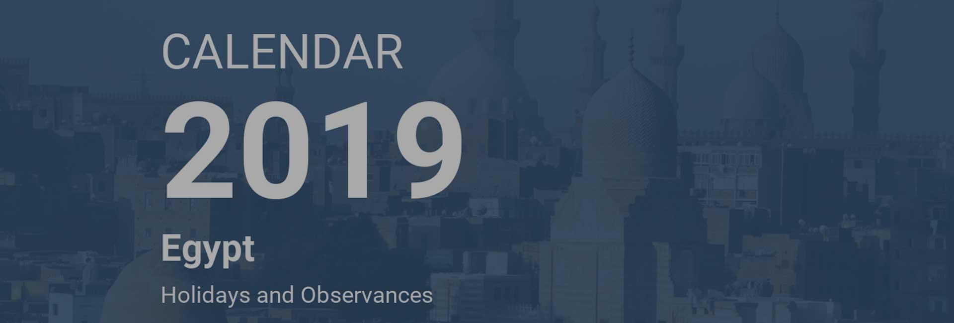 Egypt: Calendars and Holidays